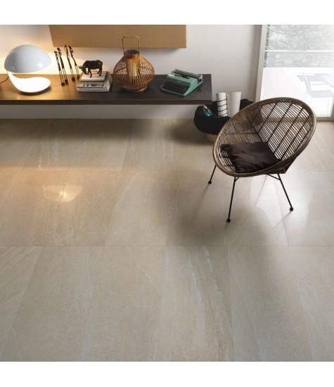 Artica beige gres porcellanato effetto pietra beige con superficie lappata.