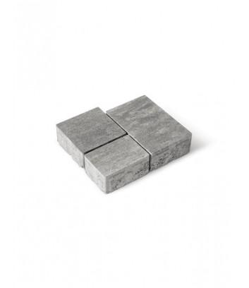 Dettaglio pavimento da esterno autobloccanti Maspe matrix grigio argento
