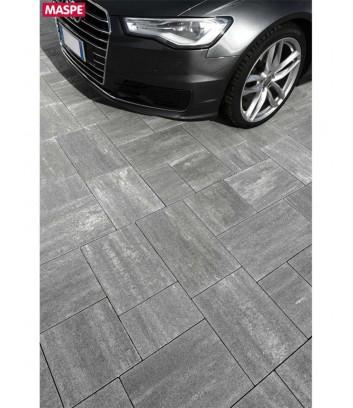 Pavimentazione parcheggio con skema grigio serizzo Maspe