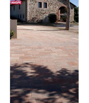 Cortile con pavimento esterno skema foglia d'autunno Maspe