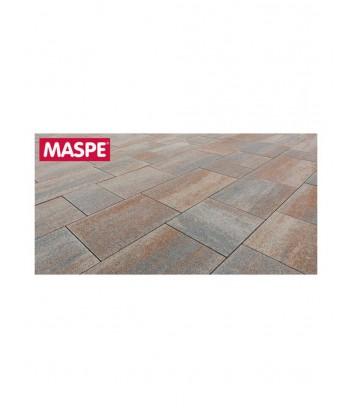 Particolare di pavimentazione esterna con massello autobloccante skema foglia d'autunno Maspe