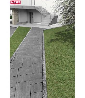 Vialetto d'ingresso con pavimentazione autobloccante skema sandstone grigio titanio Maspe