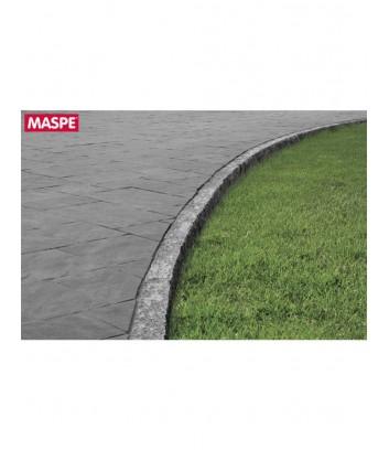 Particolare con curva vialetto con pavimentazione skema sandstone grigio titanio Maspe