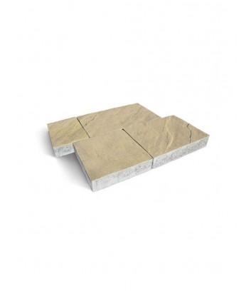 Dettaglio massello autobloccante skema sandstone giallo reale Maspe