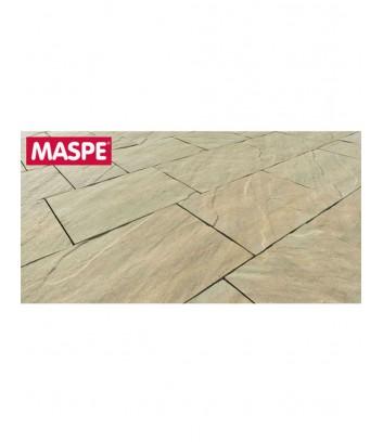 Particolare pavimento autobloccante Maspe skema sandstone giallo reale