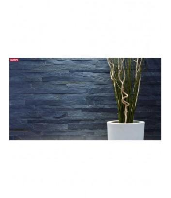 Rivestimento esterno con luce blu in pietra naturale donatello wide Maspe