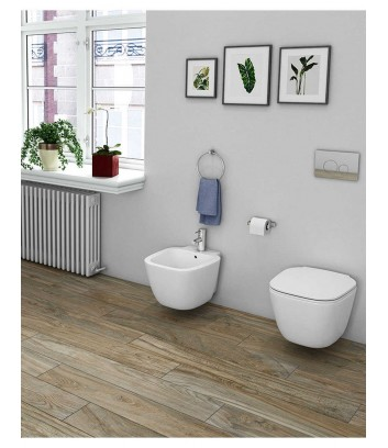 Ambiente sanitari bagno sospeso linea One Rak Ceramics