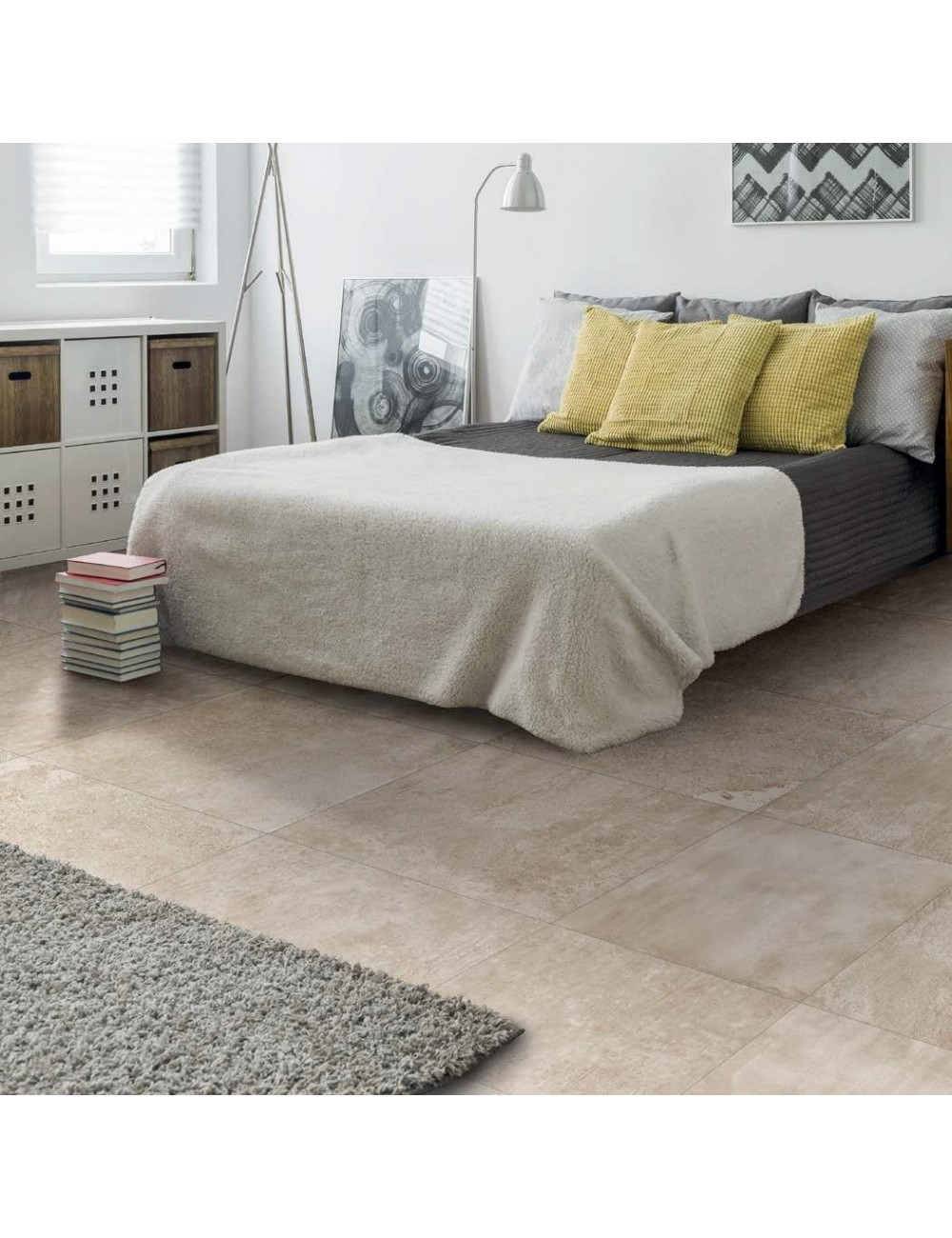 Endymion paper piastrella effetto cemento color beige del marchio Gambini ceramiche