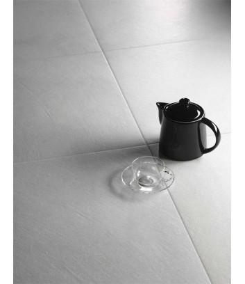 piastrella gres porcellanato effetto cemento block bianco naturale