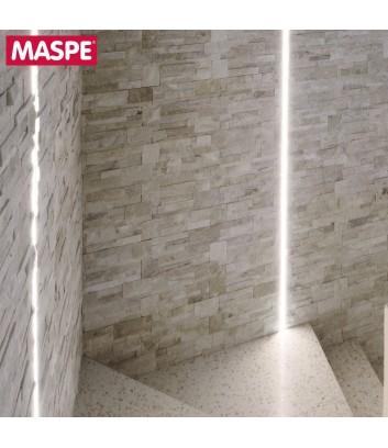 Parete vano scale interno rivestito in pietra naturale modigliani maspe