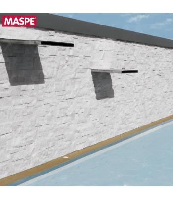 Rivestimento muro piscina esterna in pietra naturale palladio Maspe