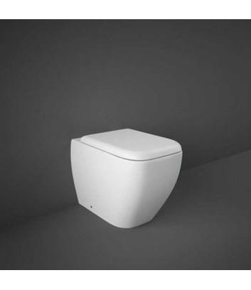 WC a terra filo muro con sistema rimless linea Metropolitan Rak Ceramics