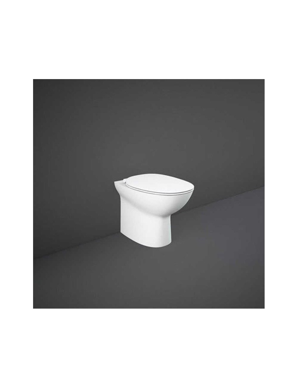 WC a terra filo muro con sistema rimless linea Morning Rak Ceramics