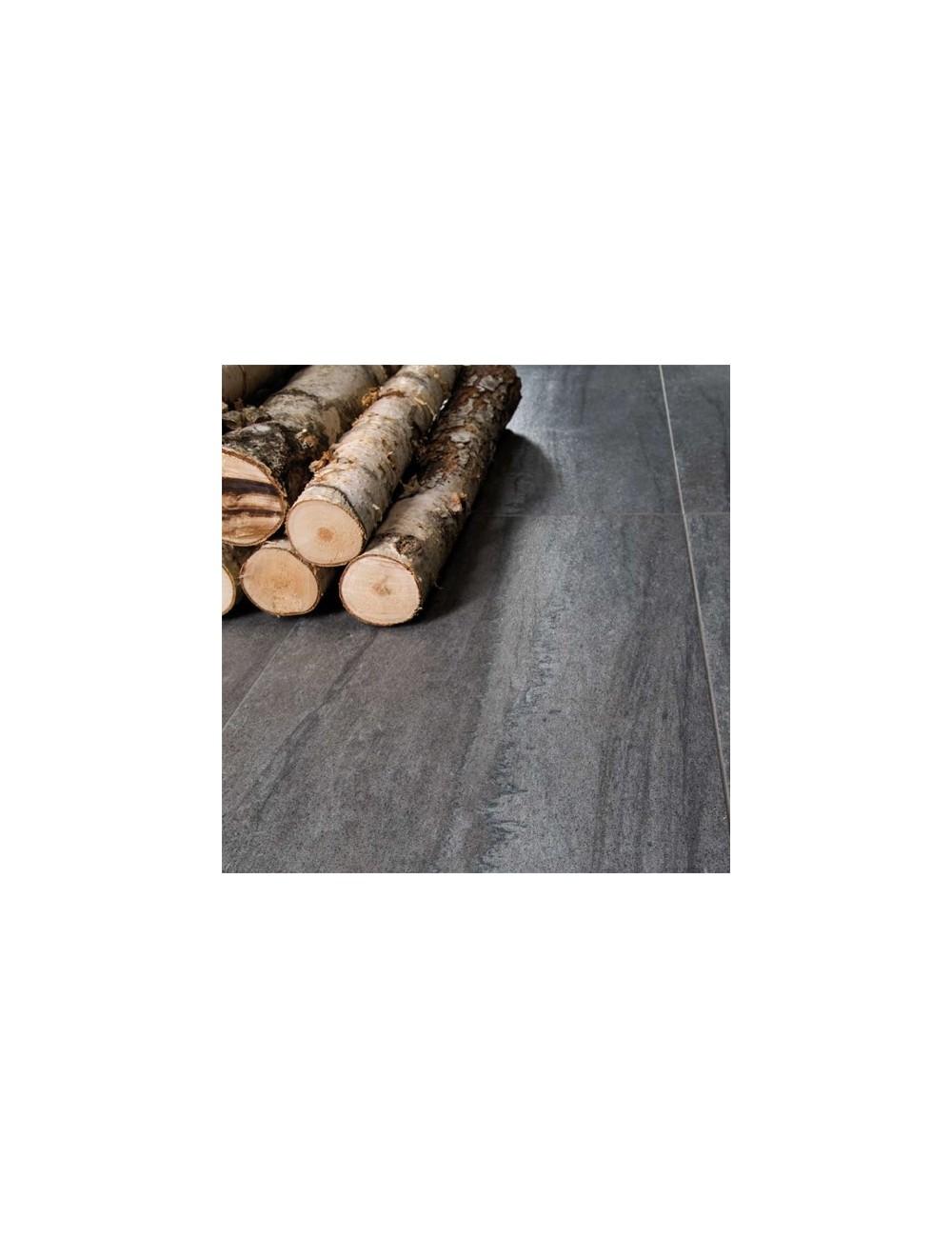 Kaleido grigio lappato rettificato gres effetto pietra